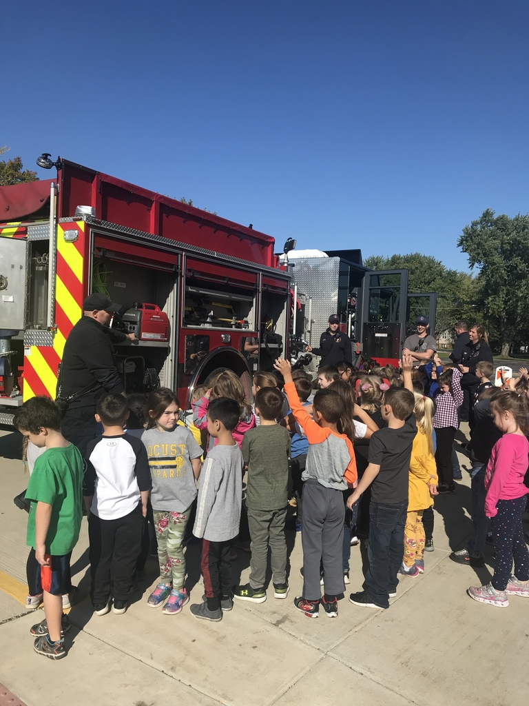 Learning about the fire truck.